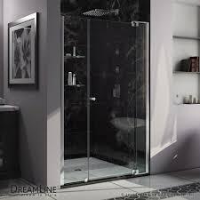 Glass Shower Doors Michigan Dreamline 31 In To 32 In X 73 In Semi Frameless Pivot