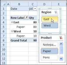 Excel 2010 Pivot Table Filter Multiple Pivot Tables With Excel 2010 Slicers Contextures