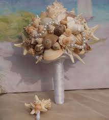 wedding bouquets with seashells seashell bridal wedding bouquet for a destination summer