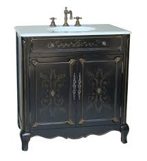 adelina 32 inch cottage hand painted bathroom vanity white marble