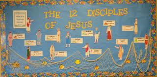 bible fun for kids bulletin board for the 12 apostles of jesus
