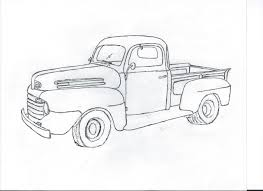 Old Ford Truck Vector - how to draw ty toys alltoys for
