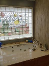 decorative glass block border designs for windows or shower wall