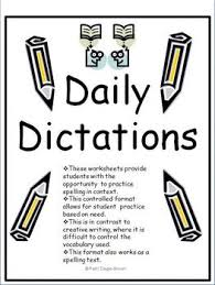 daily dictation spelling test in context worksheets tpt