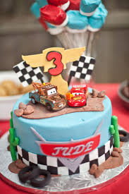 disney cars birthday cake landon already has both characters for