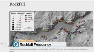 Yosemite Valley Map Yosemite National Park Using Tech To Closely Monitor Rock Movement