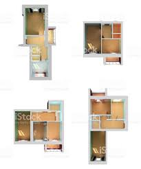 floor plan 3d empty house floor plan 3d top view stock photo 162612084 istock