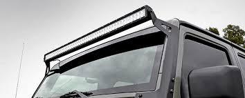 rough country light bar mounts rough country s 50 inch led upper windshield light bar bracket psg