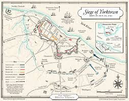 Washington Heights Map by Map The Siege Of Yorktown George Washington U0027s Mount Vernon