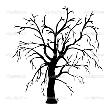 of a bare tree to color