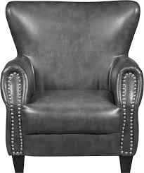 Black Leather Accent Chair Flint Bonded Leather Accent Chair Grey Bonded Leather Lounge