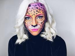 Cheetah Face Makeup For Halloween Lisa Frank Leopard Makeup Alexxelder Makeup Pinterest
