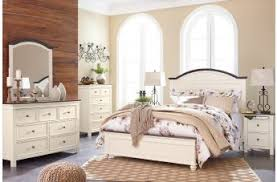 White And Brown Bedroom Ashley Furniture Woodanville Bedroom Collection