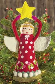 tree topper felted angel tree topper christmas olive cocoa