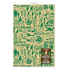 sports wrapping paper all occasion bigfoot wrapping paper sports outdoors
