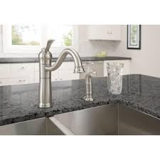 rate kitchen faucets moen banbury single handle standard kitchen faucet with side