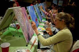 paint nite combines art lessons and alcohol at bars and restaurants