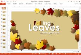 fall leaves powerpoint template animated falling leaves powerpoint