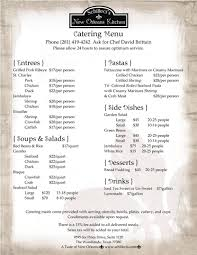 Urban Kitchen Catering New Orleans Kitchen Catering Menu Onsite Catering To Go Menus
