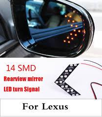 lexus nx mirror 2pcs 14smd led arrow panels car side mirror turn signal light for