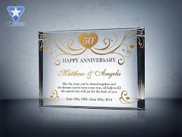 anniversary gifts for parents 50th anniversary gift etched award plaque sles