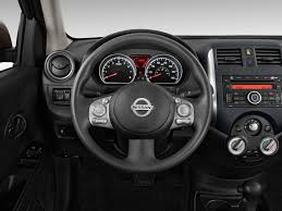 black nissan versa image 2014 nissan versa 4 door sedan cvt 1 6 sv steering wheel