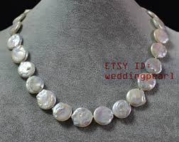 etsy necklace pearl images Coin pearl necklace etsy jpg