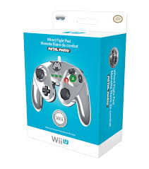 wired fight pad for wii u metal mario