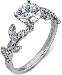 Flower Wedding Ring by Simon G Engagement Rings And Settings