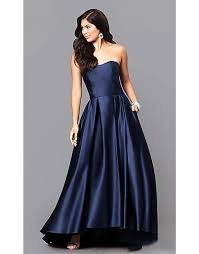 betsy and adam betsy adam strapless hi low gown gowns gowns and more