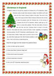 christmas in england worksheet free esl printable worksheets
