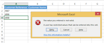 prevent duplicate entries in a data range using data validation