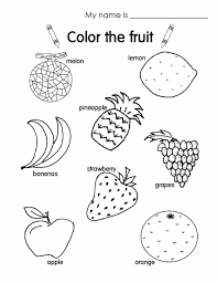 fruit coloring sheet newcoloring123