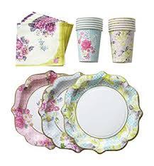 floral print paper plates cups napkins 12 plates 12