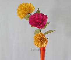 Flowers For Home Decor Diy Easy Paper Flowers Home Decor Project