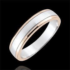 alliances homme alliance homme horizon or blanc et or 9 carats bijoux edenly