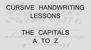 lesson 27 capital letters handwriting penmanship calligraphy