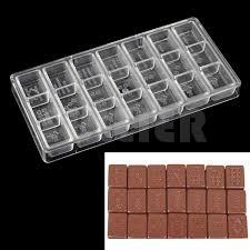 mahjong ustensile de cuisine diy polycarbonate chocolate mold style mahjong shaped