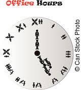 les heures de bureau heures horloge bureau 9 00 horloge bureau projection clipart