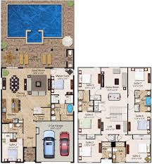 8 bedroom homes ranging from 3 612 to 4 057 square feet the two