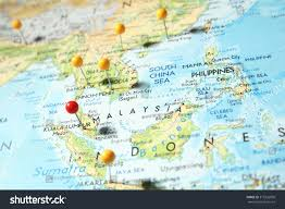 Saigon On World Map by Pins On Map Focus On Kuala Stock Photo 315926090 Shutterstock