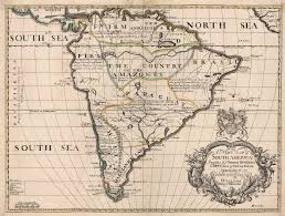 Map Of North America With Mountains by 1700 A New Map Of South America Shewing It U0027s General Divisions