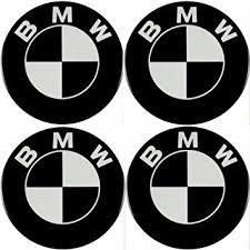 black and white bmw logo bmw emblem black rims sticker logo hub cover hub cap wheel trim 4