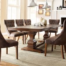 overstock dining room sets atelier traditional french burnished brown pedestal extending