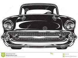 old cars drawings classic car front stock vector image 42401418