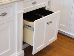 Kitchen Trash Can Ideas Under Cabinet Trash Can Kitchenrev A Shelf Plastic Pull Out Trash