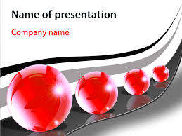 red bubbles powerpoint template for impressive presentation free