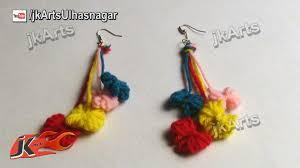 gujarati earrings diy how to make woolen bow earrings handmade jewelry jk arts 383