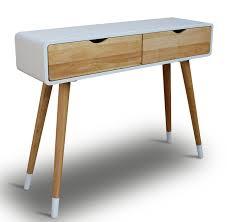Kleiner Schreibtisch Modern Konsolentisch Holz Weiß 100 X 30 X 80 Cm Konsole Beistelltisch