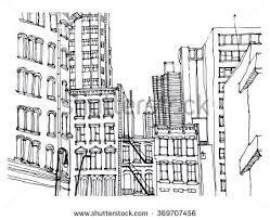vector city sketch gray scale transparent stock vector 460348879